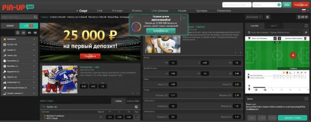 Pin Up - обзор официального сайта